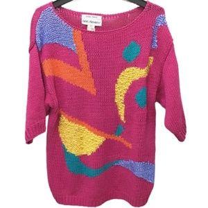 Vintage Handmade 80s Ann Stevens Sweater, L